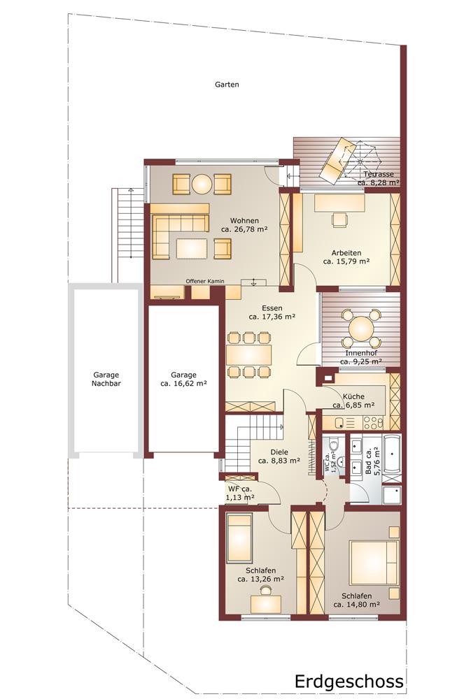 Grundriss einer Immobilie