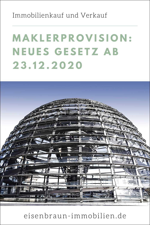 Zum 23.12.2020 wird in Deutschland die Maklerprovision neu geregelt