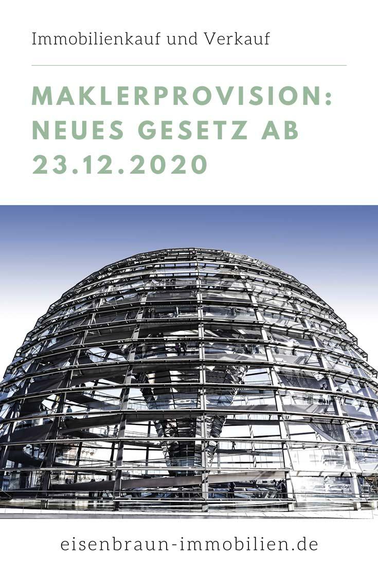 Maklerprovision: Neues Gesetz ab 23.12.2020 in Deutschland