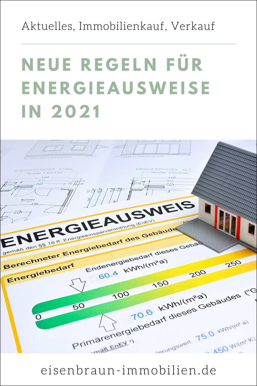 Bild eines Energieausweises: Welche neuen gesetzlichen Vorgaben gelten ab 1.5.2021 in Deutschland für den Energieausweis?